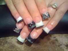 Lacey Affair by Tommygirl from Nail Art Gallery Duck Tip Nails, Duck Feet Nails, Flare Acrylic Nails, Flare Nails, Fabulous Nails, Gorgeous Nails, Pretty Nails, Hot Nails, Hair And Nails
