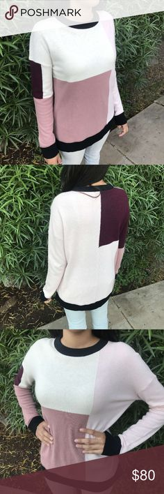 Kate spade ♠️ Cute pink Color block sweater. No flaws. Great condition. No trade. I take offers. kate spade Sweaters