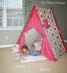 The Modest Homestead: Fabric tent tutorial