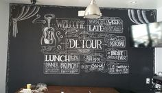 The Detour Bistro Bar Chalk Wall by foxbirch