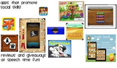 Speech Time Fun: Pragmatic Skills Series: Apps that promote social skills! Check it out to get a list of great apps, suggestions, and TONS of giveaways!