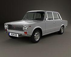 3D model of Fiat 124 1966