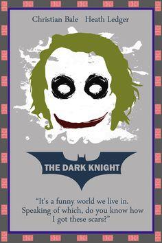 The Dark Knight [Christopher Nolan, 2008] «Minimal Poster Set Author: rsholtis»