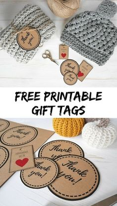printable tags for handmade crochet items Free printable gift tags Free Printable Gift Tags, Templates Printable Free, Gift Tag Templates, Printable Labels, Free Downloads, Handmade Gift Tags, Handmade Crafts, Crochet Craft Fair, Craft Fairs