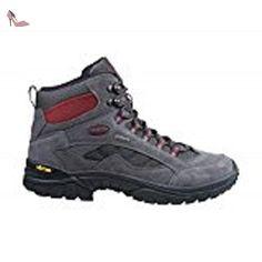 Brütting Chimney Rock, Bottines de randonnée homme, Gris - Grau (grau/rot), 47 - Chaussures brtting (*Partner-Link)