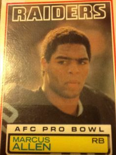 Rookie Card - Marcus Allen 1983 Topps, Los Angeles Raiders Football Card #294 #LosAngelesRaiders