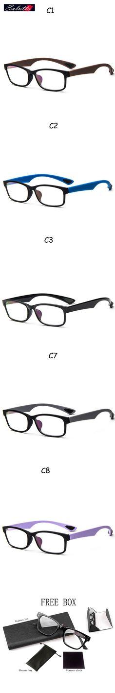 SALUTTO Classic Multicolor Eye Glasses Frames For Men And Women Flexible  Optical Frame Nerd Occhiali Prescription Eyewear  12.97 ad71e4b7571c