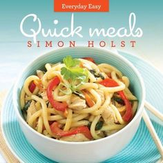 Buy Everyday Easy Quick Meals by Simon Holst at Mighty Ape NZ. Minimal ingredients, quick recipes, step by step instructions - your 'go to' book at the end of the day. Quick Recipes, Quick Easy Meals, Yummy Lunch Box, Fabulous Foods, Snacks, Cooking, Reading, Books, Ideas