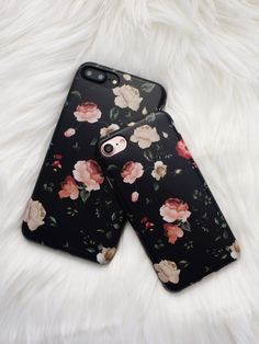Floral Case in Dark Rose from Elemental Cases. Available for iPhone 7 iPhone 7 Plus