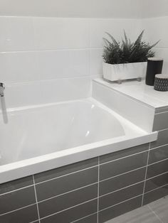 If we can't have a free-standing bath, have a shelf next to the wall mounted bath. A Shelf, Shelves, Standing Bath, Open Living Area, Wall Mount, Bathtub, Minimalist, Free, Shelving