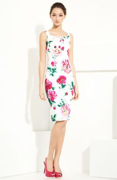 Floral Print Cotton Dress by Dolce&Gabbana
