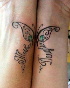The mother daughter tattoos can be produced in various designs and looks. Mother and daughter tattoos do not have to be in an identical location, they. Niece Tattoo, Mum And Daughter Tattoo, Tattoos For Daughters, Tattoos Bein, Sister Tattoos, Friend Tattoos, Tatoos, Family Tattoos, Small Tattoos