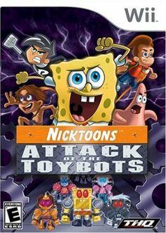 Nicktoons: Attack of the Toybots (Nintendo DS, Spongebob Danny Phantom etc Xbox, Playstation 2, Nintendo 3ds, Nintendo Switch, Jimmy Neutron, Ds Games, Danny Phantom, Game Logo, Heron