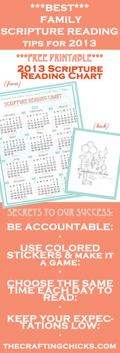 2013 BEST KEPT Family Scripture Study Secrets and ***FREE PRINTABLE***