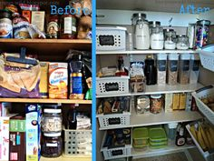 Pantry Makeover Reveal with lots of great organizing tips!