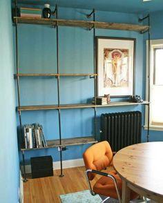 Building DIY Plumbing Pipe Shelves in My Dining Room