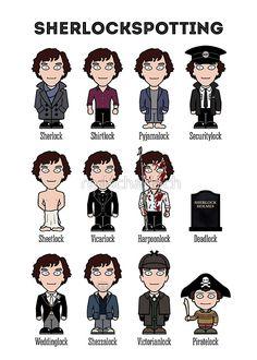 Sherlockspotting by redscharlach