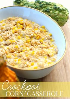 Crockpot Corn Casserole Recipe + Thanksgiving Prep Tips | Make ahead crock pot corn casserole recipe + Thanksgiving prep tips for easy meal planning (ad)
