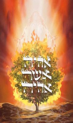holy hebrew fire letters name of God | Burning Bush—Flame Hebrew Calligraphy