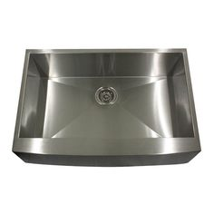 Nantucket Sinks Pro Series Single Basin Farmhouse Apron Kitchen Sink, As Shown Stainless Steel Farmhouse Sink, Farmhouse Sink Kitchen, Stainless Steel Kitchen, Kitchen Sinks, Kitchen Remodel, Nantucket, Farmers Sink, Apron Front Kitchen Sink, Farmhouse Aprons