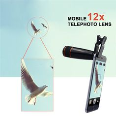 Free Shipping Universal Clip On 12X Telephoto Lens Mobile Phone Optical Zoom Telescope Camera For iPhone Sumgung HTC JT16 iPhone Web Shop |