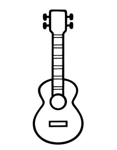 Bumba Tegninger for barn 2 Mini Drawings, Cute Easy Drawings, Hawaiian Crafts, Guitar Drawing, Music Crafts, String Art, Coloring Pages For Kids, Ukulele, Doodle Art