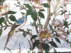 Vintage Jonelle Duracolour Cotton Interiors Fabric Panel 'Oreine' Birds inTrees   eBay