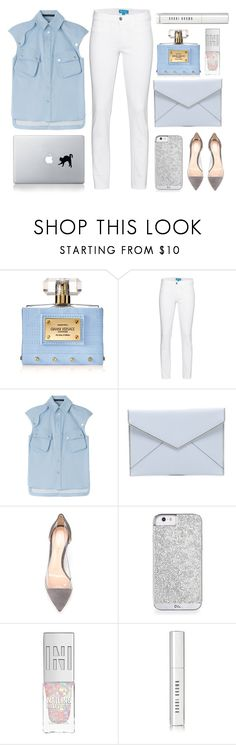 """:: winter white ::"" by andreearucsandraedu ❤ liked on Polyvore featuring moda, Versace, MiH, Karl Lagerfeld, Rebecca Minkoff, Gianvito Rossi i Bobbi Brown Cosmetics"
