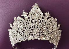 Silver or Gold Tiara Bridal Crown Crystal Wedding Tiara | Etsy Bridal Crown, Bridal Tiara, Bridal Headpieces, Silver Tiara, Swarovski Stones, Crystal Wedding, Wedding Hair Accessories, Hair Pieces, Wedding Hairstyles