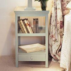 Beauvais Wood Bedside Table with Storage