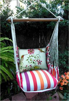 Hammock Pillow Seats with Exquisite Prints for Your Garden !!!