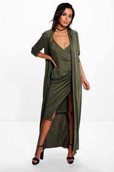 Boohoo Isla Texture Wrap Midi Dress Co-ord..