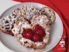 Cherry funnel cake