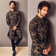: The Wedding Ceremony Was Nothing Less Than Festival And B-Town Enjoyed It With Full Zeal - HungryBoo Mens Indian Wear, Indian Groom Wear, Indian Men Fashion, Mens Fashion Wear, Mens Ethnic Wear, Men Wear, Mens Fashion Blazer, Indian Man, Sherwani For Men Wedding