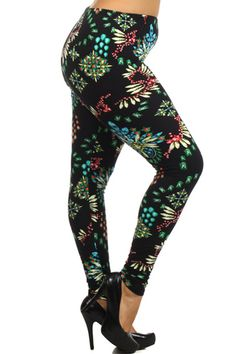 Floral Fun Leggings (Plus Size) Best Leggings, Tight Leggings, Trendy Clothes For Women, Trendy Outfits, Nanamacs Boutique, Leggings Fashion, Types Of Fashion Styles, My Wardrobe, Boutique Clothing