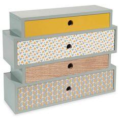 Schachtel mit 4 Schubladen 24 x 30 cm QUINCONCE