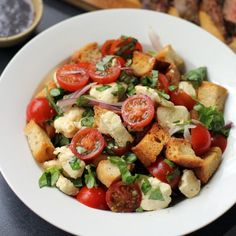 tomato salad with crushed croutons salad recipe tomatoes bread yummy ...
