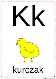 literki dla przedszkolaków - kuczak