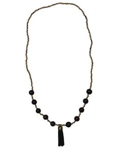 #Fairtrade #Jewelry #Necklace by Trades of Hope - This statement necklace is perfect for year round wear. This necklace is made from Costa Rican Chambimbe seeds and finished off with a suede leather tassel. With a fun Bohemian style, this necklace makes a great addition to any outfit!