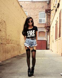 punk look.