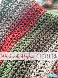 Free Crochet Pattern: Fast and Easy Throw Blanket or Afghan Chunky Crochet, Easy Crochet, Crochet For Kids, Crochet Hooks, Free Crochet, Crochet Things, Crochet Quilt, Crochet Pillow, Crochet Stitches