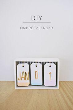 Diy: fabriquez un calendrier ombré pour votre bureau! | BricoBistro: