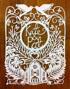 paper cut wedding invitation / emily hogarth