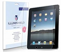 iLLumiShield - Apple iPad 2 (HD) Blue Light UV Filter / Premium High Definition Clear Film / Reduces Eye Fatigue and Eye Strain - Anti- Fingerprint / Anti-Bubble / Anti-Bacterial Shield - Comes With Free LifeTime Replacement Warranty - Retail Packaging Apple Ipad 1, Natural Sleep Aids, How To Get Sleep, Eye Strain, New Ipad, Samsung Galaxy S5, Iphone 4s, Ipad Mini, Iphone 4