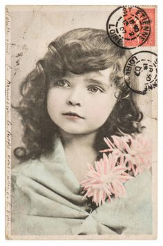 Vintage picture little girl by LiliGraphie on Creative Market