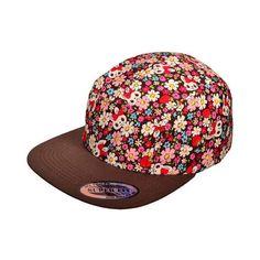 Wholesale Flat Bill 5 Panel Biker Jockey Cycle Snapback Hats... ❤ liked on  Polyvore featuring accessories 512cbf437f5