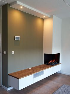 Fireplace Tv Wall, Fireplace Design, Wood Burning Fireplace Inserts, Inside A House, Townhouse Designs, Living Room Tv, Tv Unit, Home Renovation, Living Room Designs