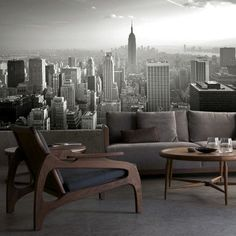 :: WALLS :: excellent value - love this City Skyline BW Mural, Available in Küchen Design, House Design, Poster Xxl, My Dream Home, Wall Murals, Interior Architecture, Interior Decorating, New Homes, Wall Decor