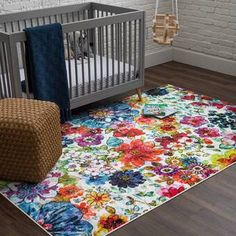 Bungalow Rose Tulsa Handmade Tufted Wool Brown Rug & Reviews | Wayfair Yellow Area Rugs, Brown Rug, Modern Artists, Recycle Plastic Bottles, Living Room Inspiration, Game Room, Animals For Kids, Floral Design, Kids Rugs