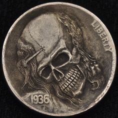 ALEX OSTROGRADSKY HOBO NICKEL - NAILED TO ETERNITY - 1936 BUFFALO NICKEL